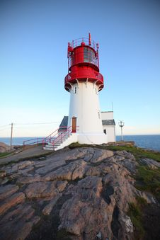 Free Lighthouse On The Rocky Hill Royalty Free Stock Image - 21261686