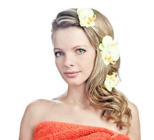 Free Blonde Girl In The Towel Royalty Free Stock Image - 21261796