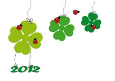 Free Cute Card With Shamrock Royalty Free Stock Photo - 21261805