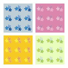 Free Seamless Vector Backgrounds Set Royalty Free Stock Image - 21262186