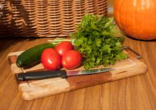 Free The Suite Of Vegetables For Salad Stock Images - 21262664