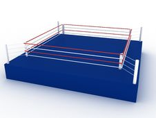 Free Blue Boxing Ring №1 Stock Photo - 21262760