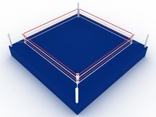 Free Blue Boxing Ring №3 Stock Photos - 21262763