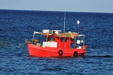 Fishing Boat On The Sea Stock Images