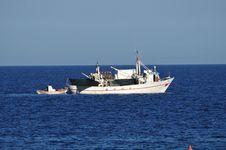 Free Fishing Boat At Sea Stock Photos - 21263193