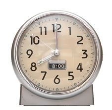 Red Old Style Alarm Clock Royalty Free Stock Photography