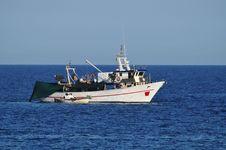 Free Fishing Boat At Sea Stock Image - 21263331