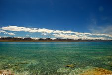 Free Snow Moutain And The Namtso Lake Stock Image - 21263741