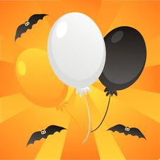 Halloween Balloons Background Stock Images