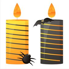 Halloween Candles Stock Photography