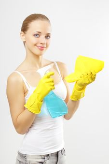 Free Housework. Gray Background Stock Photos - 21265433