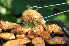 Free Grilling Chicken Royalty Free Stock Image - 21265526