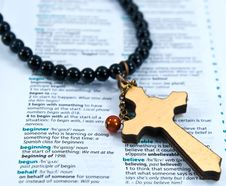 Free Cross With Believe Stock Images - 21265964