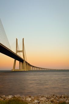 Free Vasco Da Gama Bridge. Royalty Free Stock Photos - 21266258