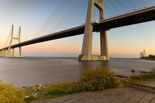 Free Vasco Da Gama Bridge. Stock Images - 21266274