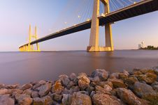 Free Vasco Da Gama Bridge. Stock Photography - 21266302