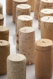 Used Wine Corks Stock Image