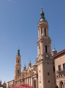 Free Nuestra Senora Del Pilar Basilica In Zaragoza Stock Photos - 21266633