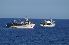 Free Fishing Boats At Sea Royalty Free Stock Photo - 21266725