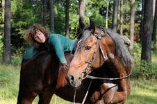 Free Girl On Horseback Royalty Free Stock Photography - 21267197