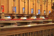 Free A Row Of Books In A Cathedral Royalty Free Stock Photography - 21267407