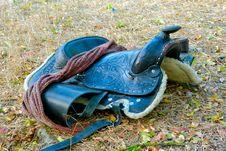 Free A Dark Brown Saddle Royalty Free Stock Photo - 21267475