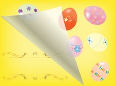 Free Easter Card With Eggs Royalty Free Stock Image - 21267726