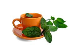 Drink With Mint Leaves Stock Photo