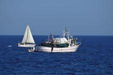 Free Fishing Boats At Sea Stock Photography - 21267922