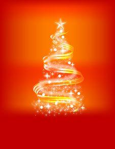 Beautiful Abstract Christmas Tree! Royalty Free Stock Photos