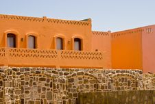 Free Nice Orange Hotel In Egypt With Clear Sky And Wall Royalty Free Stock Image - 21268646