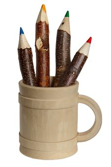 Free Comical  Pencils. Royalty Free Stock Photography - 21269307