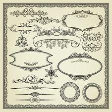 Free Set Of Design Elements. Stock Photo - 21269450