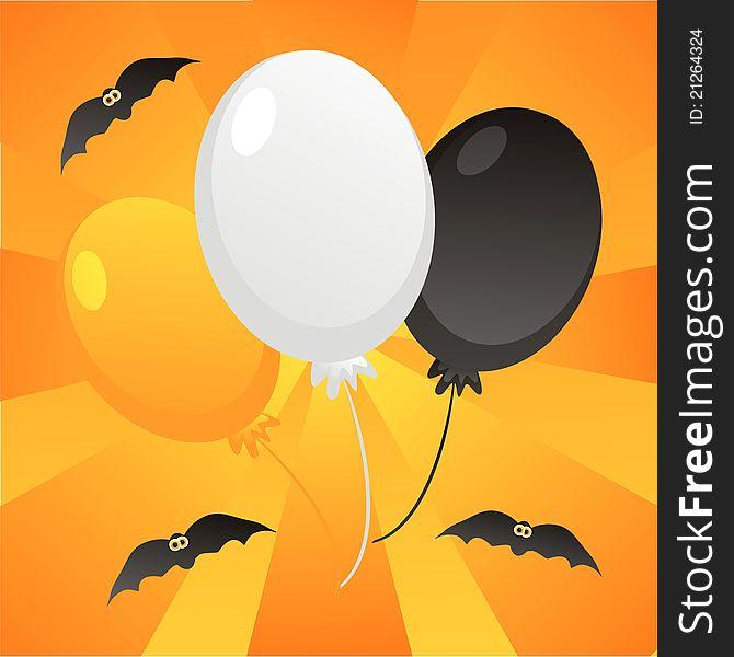 Halloween balloons background