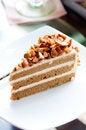 Free Coffee Almond Cake Stock Photo - 21270750