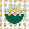 Free Cartoon Angel Card Stock Image - 21271811