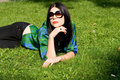 Free Girl Lying On Grass Stock Photos - 21274673