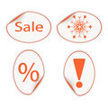 Free Set Of Labels For Christmas Sales. Eps10 Stock Photography - 21279972