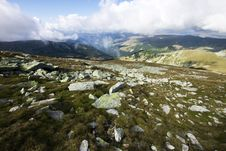 Mountain Landscape In Parang Mountains Stock Images