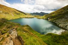 Free Landscape From Capra Lake In Romania And Fagaras M Royalty Free Stock Photography - 21270087