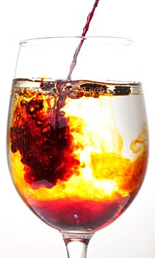 Free Pouring Red And Yellow Liquid Royalty Free Stock Photos - 21270108
