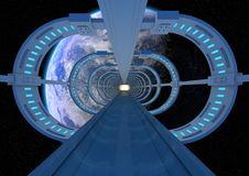 Free Futuristic Earth Bridge Royalty Free Stock Photo - 21270275