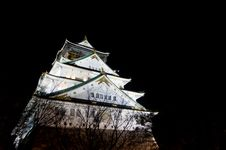Free Night Time View Of Osaka Castle Royalty Free Stock Photos - 21271318