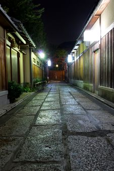 Free Kyoto Streets At Night Royalty Free Stock Images - 21271319