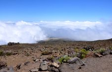 On The Summit Of Haleakala Volcano Royalty Free Stock Image