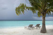 Free Maldives Island Monsoon Stock Photography - 21272592