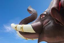 Free Elephant Head,Thailand Royalty Free Stock Image - 21272856