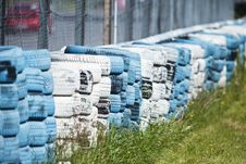 Free Tires As A Fence Royalty Free Stock Photography - 21273367