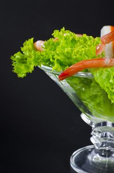 Free Shrimp Salad Stock Image - 21273901