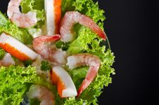 Free Shrimp Salad Royalty Free Stock Photos - 21273928